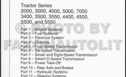 1965-1975 Ford Tractor Repair Shop Manual Reprint 2000 3000 4000 for Ford 5000 Tractor Parts Diagram