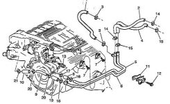 1999 Deville Concours Leaking Coolant From Heater Pipe. Need Help. inside 2000 Cadillac Deville Engine Diagram