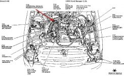 1999 Ford Ranger, 2.5L. Error Code P1401 – Evp Voltage for 1999 Ford Ranger Engine Diagram
