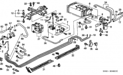 1999 Honda Accord 4 Door Lx (Ul) Kl 4At Fuel Pipe – Hondapartsnow inside 2000 Honda Accord Parts Diagram