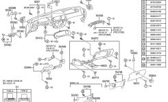 2000-2002 Toyota Tundra Dash Switch Base Mount Moonmist New Oem in 2000 Toyota Tundra Parts Diagram