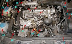 2002 Jetta Tdi – Oil Leak, Passenger Side Leading To Intercooler with regard to Vw Golf Mk4 Engine Diagram