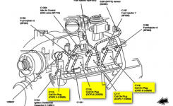 2002 Lincoln Navigator: A Diagram Of The Ignition Coil And Spark Plugs in 2003 Lincoln Navigator Engine Diagram