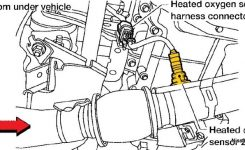 2004-2006 Nissan Altima With 2.5 Engine Air/fuel Ratio And O2 pertaining to 2005 Nissan Altima Engine Diagram