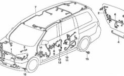 2005 Honda Odyssey Diagram 2005 Honda Odyssey Diagnosing Airbag with regard to 2005 Honda Odyssey Parts Diagram