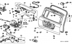 2005 Honda Pilot 5 Door Lx Ka 5At Tailgate – Hondapartsnow regarding 2005 Honda Pilot Parts Diagram