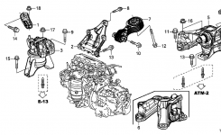 2012 Honda Civic 4 Door Dx Ka 5At Engine Mounts – Hondapartsnow throughout 2012 Honda Civic Parts Diagram