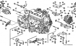 31110-P2A-004 – Genuine Honda Belt, Alternator (Mitsuboshi) with 1996 Honda Civic Engine Diagram