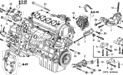 31110-Pla-E02 – Genuine Honda Belt, Alternator (Mitsuboshi) with 2003 Honda Civic Engine Diagram
