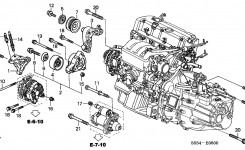 31175-Pra-000 – Genuine Honda Bracket, Idle Pulley regarding 2004 Honda Civic Engine Diagram