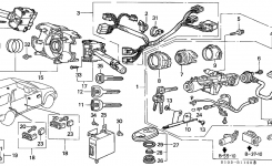 35130-S10-A01 – Genuine Honda Switch, Steering inside 1998 Honda Crv Parts Diagram