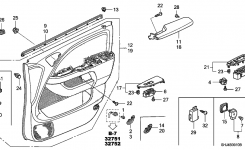 35750-Shj-A24 – Genuine Honda Switch Assy., Power Window Master intended for 2005 Honda Odyssey Parts Diagram