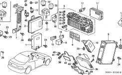 37820-P2E-A92 – Genuine Honda Control Module, Engine intended for 1999 Honda Civic Engine Diagram