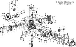 49Cc Engine Parts | Bicycle-Engines pertaining to 2 Cycle Engine Carburetor Diagram
