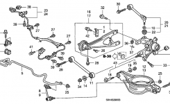 52306-S3V-A00 – Genuine Honda Bush, Rr. Stabilizer Holder in 2003 Honda Pilot Parts Diagram
