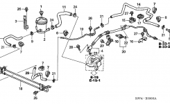 2000 Honda Accord Power Steering Hose Diagram