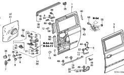 72030-S0X-A51 – Genuine Honda Switch Assy., Slide Door Close inside 2002 Honda Odyssey Parts Diagram