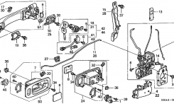 72145-S9A-013 – Genuine Honda Cylinder, R. Door in 2002 Honda Crv Parts Diagram