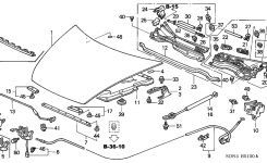 74120-Sda-A12 – Genuine Honda Lock Assy., Hood within 2003 Honda Accord Engine Diagram