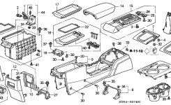 83407-Sda-A01Za – Genuine Honda Base, Console Armrest *nh167L for 2004 Honda Accord Parts Diagram