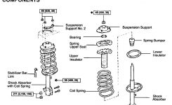 97 – 01 Toyota Camry Front End Noise: Strut Mount / Strut for 2004 Toyota Camry Engine Parts Diagram