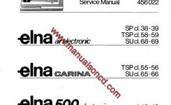 Air Electronic – Carina – Elna 500 Sewing Machine Service Manual throughout Elna Sewing Machine Parts Diagram