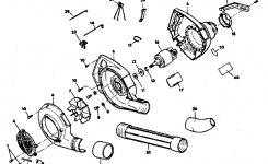 Craftsman Craftsman Electric Blower Parts | Model 257796351 throughout Craftsman Leaf Blower Parts Diagram