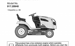 Craftsman Lawn Mower 28948 User Guide | Manualsonline inside Craftsman Riding Lawn Mower Parts Diagram