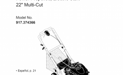 Craftsman Lawn Mower 700 Series User Guide | Manualsonline pertaining to Craftsman Self Propelled Lawn Mower Parts Diagram