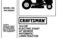 Craftsman Lawn Mower 944.602951 User Guide | Manualsonline for Craftsman Riding Lawn Mower Parts Diagram