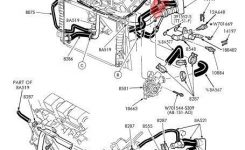 Crushed Plastic T-Joint In Coolant Hose – Taurus Car Club Of with 2004 Ford Taurus Engine Diagram