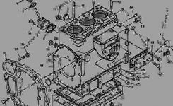 Cylinder Block Parts [5] – Tractor, Compact Utility John Deere 850 with John Deere 1050 Parts Diagram