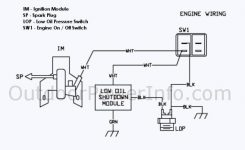 Descriptions, Photos And Diagrams Of Low Oil Shutdown Systems On throughout Small Engine Ignition Switch Wiring Diagram