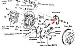 Does Anyone Have A Diagram Of The Rear Parking Brake Assembly in 2002 Toyota Sequoia Parts Diagram