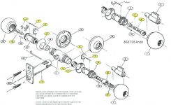 Door Knob Parts Diagram – Seasparrows.co inside Car Door Lock Parts Diagram