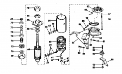 Electric Starting Kit-25 Hp Starter Motor & Bracket Electrical for 25 Hp Johnson Outboard Parts Diagram