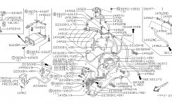 Engine Control Vacuum Piping For 1996 Nissan Maxima with regard to 1996 Nissan Maxima Engine Diagram