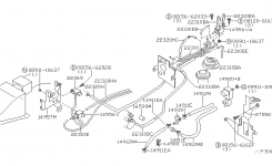 Engine Control Vacuum Piping For 1999 Nissan Altima with regard to 1998 Nissan Altima Engine Diagram