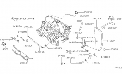 Engine Control Vacuum Piping For 2000 Nissan Sentra throughout 2000 Nissan Sentra Engine Diagram