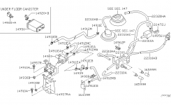 Engine Control Vacuum Piping For 2000 Nissan Xterra throughout 2000 Nissan Xterra Engine Diagram