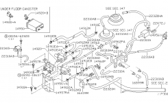 Engine Control Vacuum Piping For 2001 Nissan Frontier for 2001 Nissan Frontier Engine Diagram