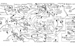 Engine Control Vacuum Piping For 2001 Nissan Maxima for 2001 Nissan Maxima Engine Diagram