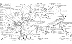 Engine Control Vacuum Piping For 2001 Nissan Pathfinder in 2001 Nissan Pathfinder Engine Diagram