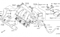 Engine Control Vacuum Piping For 2002 Nissan Maxima intended for 2002 Nissan Maxima Engine Diagram