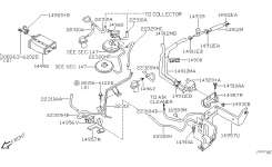 Engine Control Vacuum Piping For 2002 Nissan Xterra in 2002 Nissan Xterra Engine Diagram
