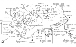 Engine Control Vacuum Piping For 2003 Nissan Pathfinder regarding 2003 Nissan Pathfinder Engine Diagram