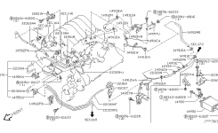 Engine Control Vacuum Piping For 2003 Nissan Pathfinder throughout 2003 Nissan Pathfinder Engine Diagram