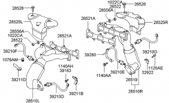 Exhaust Manifold For 2004 Hyundai Santa Fe | Hyundai Parts Deal regarding 2004 Hyundai Santa Fe Engine Diagram