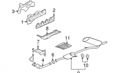 Exhaust Manifold Parts For 2008 Saturn Vue for 2008 Saturn Vue Engine Diagram