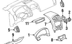 Exploded Auto Parts Diagram- Instrument Panel Components | My 2002 within 2002 Saturn Vue Engine Diagram
